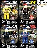 K'Nex NASCAR Four Driver Value Pack: #88 Dale Earnhardt Jr., #24 Jeff Gordon, #18 Kyle Bush, or #48 Jimmie Johnson. Great Christmas or Birthday Gift for a Racing Lover. Build Your Favorite Racer!