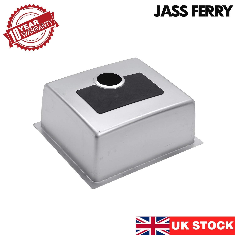 Jass Ferry montaje bajo encimera fregadero de acero inoxidable colador de cocina/ /1/de profundidad /único cuenco cuadrado residuos 10/a/ños de garant/ía