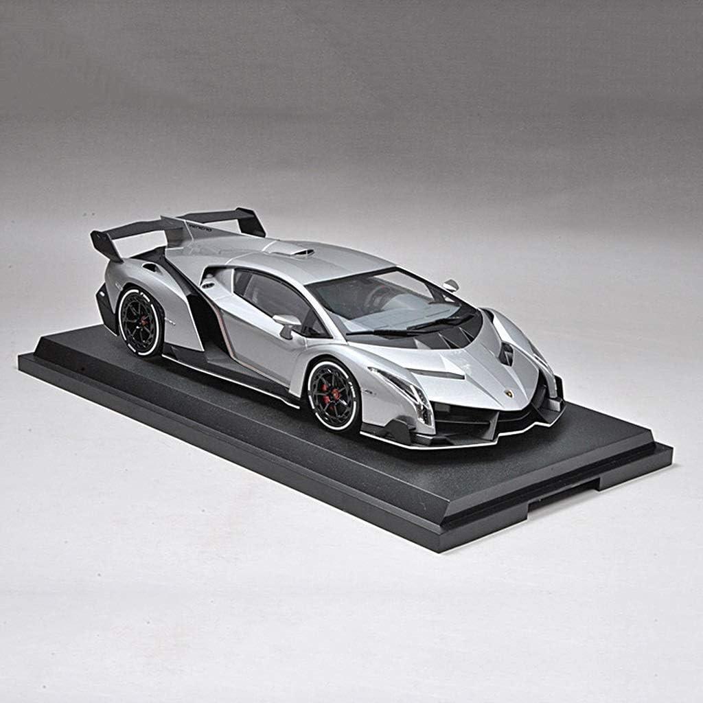 TZSMCMX モデルカーキット合金シミュレーション1:18カーモデルコレクション多機能玩具車の装飾装飾品リアルなテールグレーレッド
