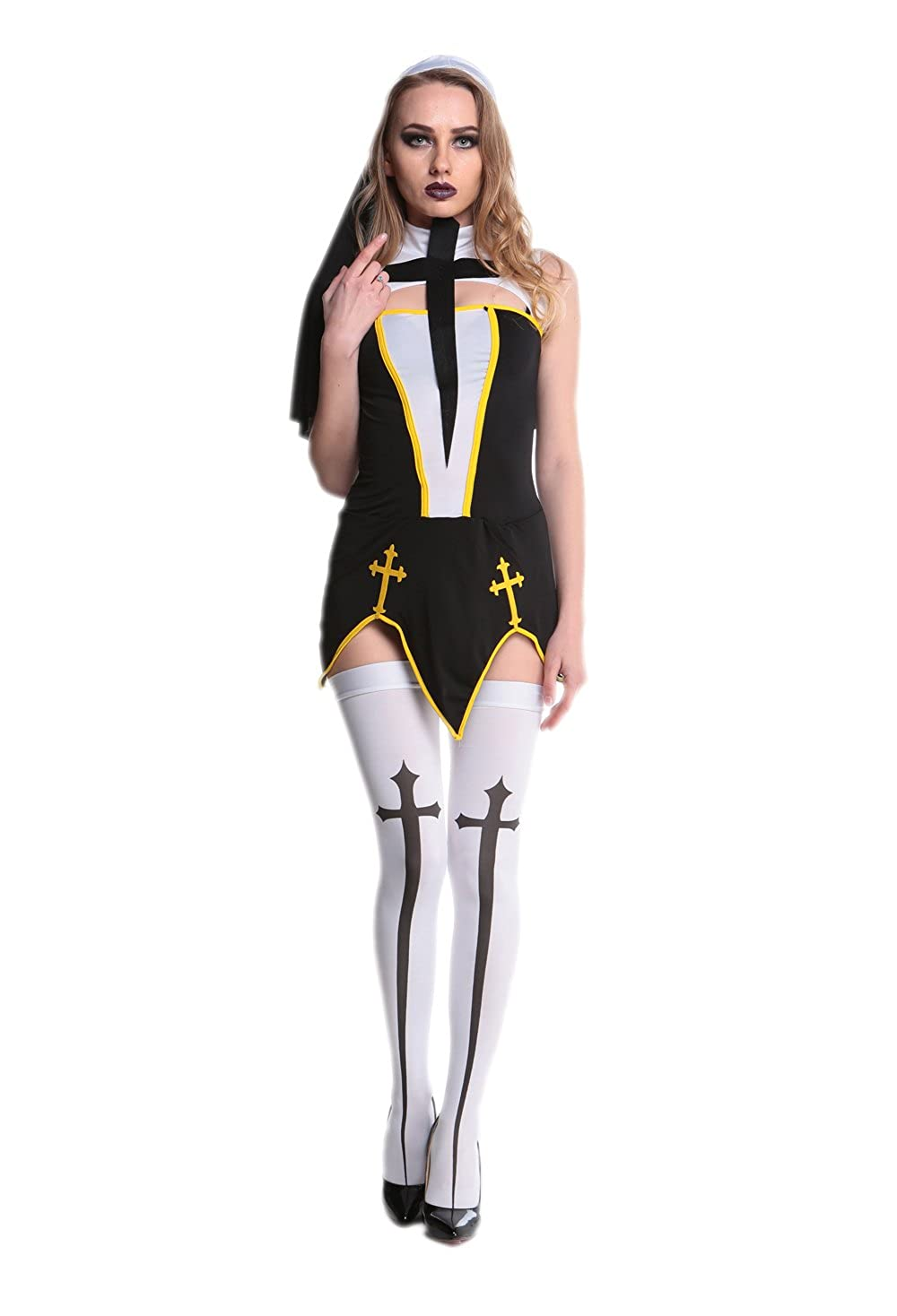 Halloween Costumes Scary Women.Amazon Com Nun Halloween Costume Women Adult Sexy Scary