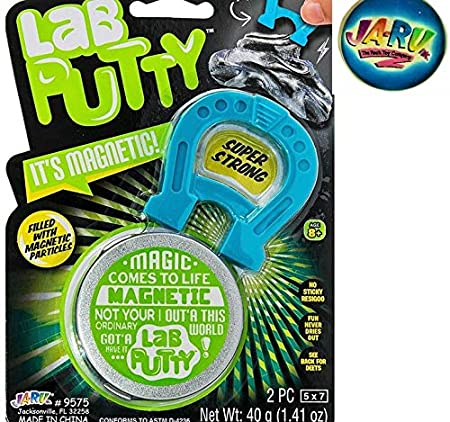 24 Packs Sensory /& Bouncing Toy Favors Best Thinking Smart Crazy Stress Putty with Tin JA-RU Lab Putty Led Scribbler UV Color Changing with Flashlight 9574-24p