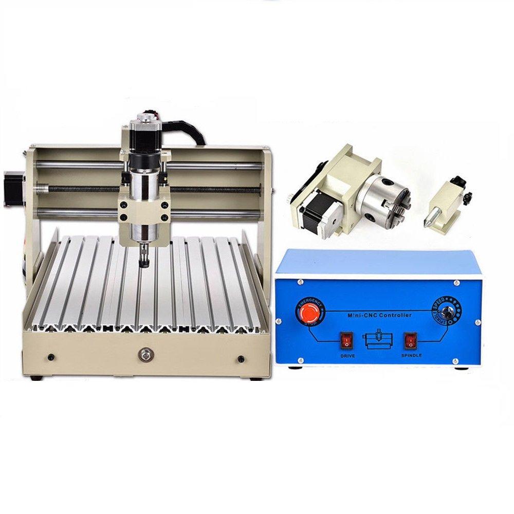 4 Ejes 3040 CNC Router Engraver Máquina de grabado Engraving Grabador Perforación Fresadoras 400W USB