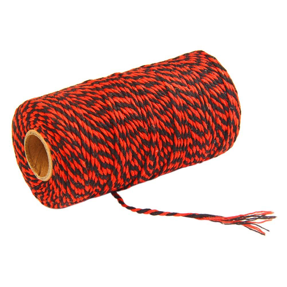 DaoRier Cuerda de algod/ón de 100 m para Regalo Cuerda Bicolor de algod/ón 2mm