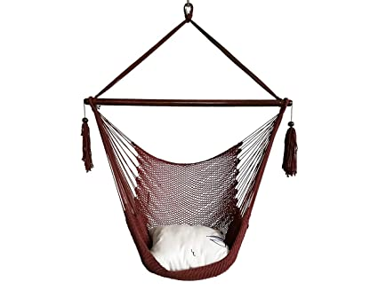 Amazon Com Bhorms Mayan Hammock Chair Cotton Rope Hanging Chair