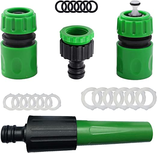 YAAVAAW Kit de conectores de manguera de jardín – Conector rápido para manguera de jardín, Kit de conectores de manguera (verde) - 5: Amazon.es: Jardín