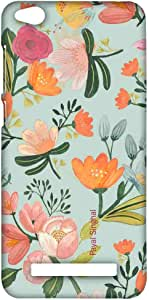 Macmerise Payal Singhal Aqua Handpainted Flower Sublime Case For Xiaomi Redmi 4A