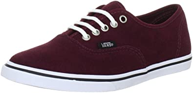 6cf75271e6 Vans Authentic Lo Pro Trainers Unisex-Adult Red Rot ((Suede) port royal
