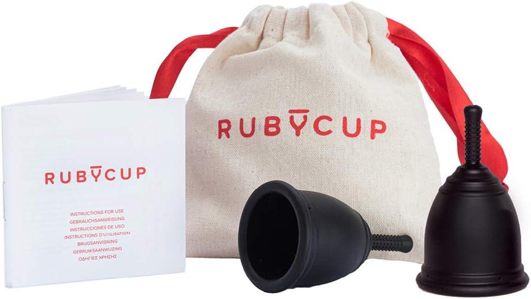 Ruby Cup -Copa menstrual -paquete de 2 unidades -Dos tallas (Talla S flujo ligero+ Talla M flujo abundante) – Incluye 2 donaciónes de copas. Perfectas ...
