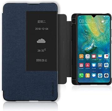 Coque Huawei Mate 20X (5G) - Coque PC cuir PU avec emplacement pour stylo M-Pen - Antichoc - Protection intégrale pour Huawei Mate 20 X (5G) - Bleu