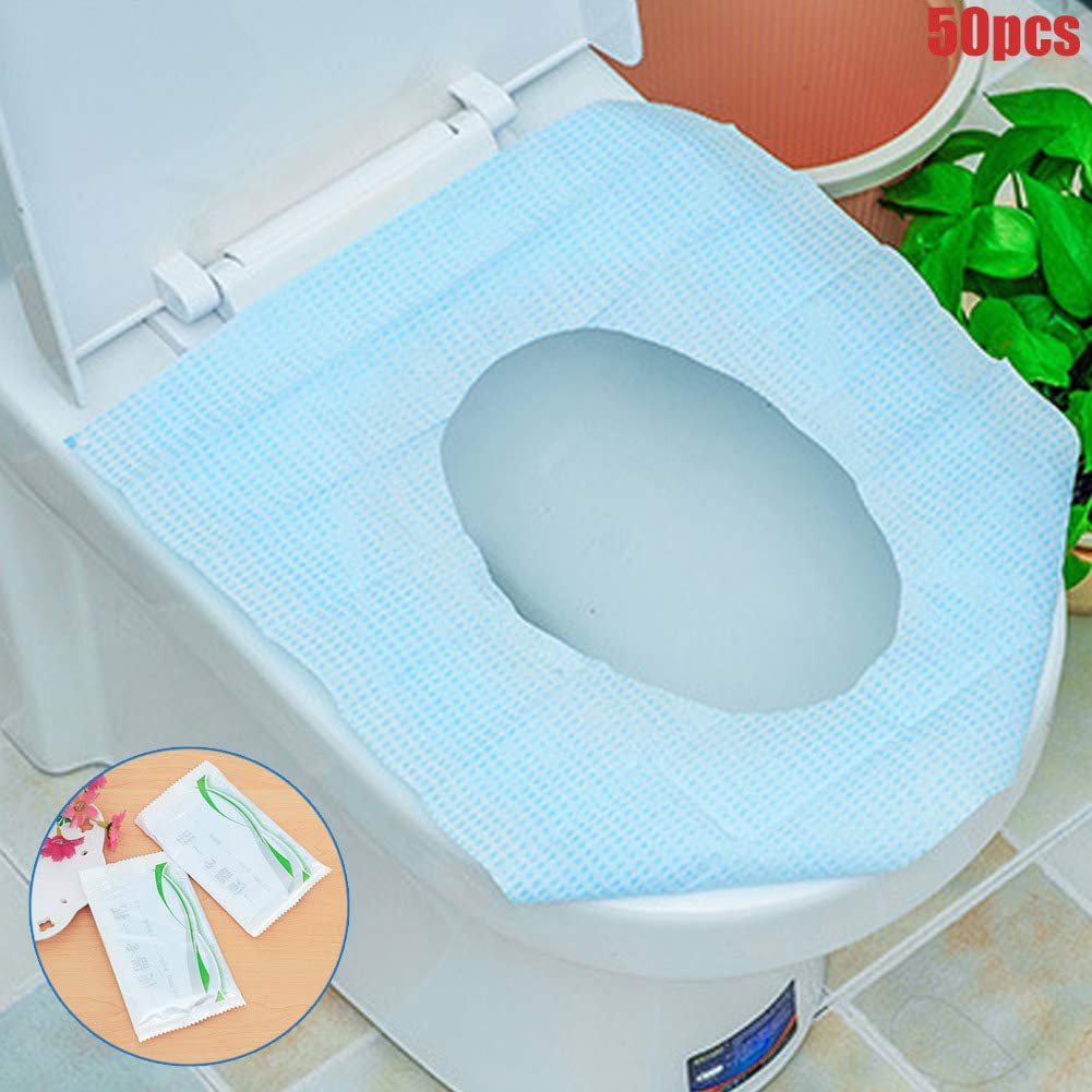 Flushable Thick and Waterproof Disposable Toilet Seat Covers for Travel Travel Toilet Seat Covers 50pcs Biodegradable Material