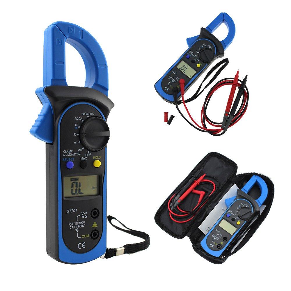 Pinza amperometrica digitale AC/DC tensione corrente resistenza frequenza multimetro tester