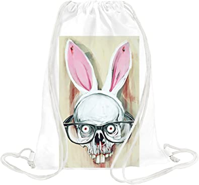 new styles b73e2 fb859 Hydrophobic Nerd Bunny Scalp Drawstring bag: Amazon.co.uk ...