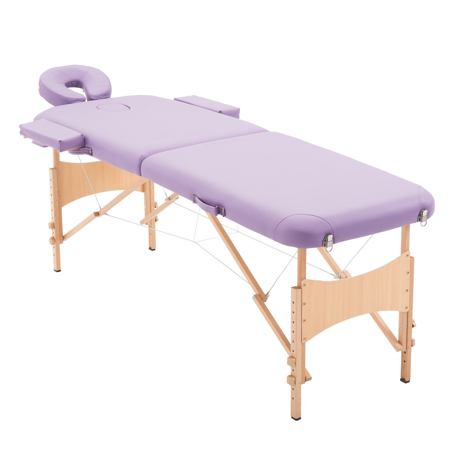 HOMCOM Massage Table Bed Spa Facial Couch Table Adjustable Foldable with Free Carry Case Purple Aosom Canada CA5550-32930231
