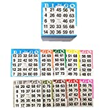 American Games Bingo Paper Game Cards - 1 Card - 10 Bingo Sheets - 200 Books - Standard Size (4'' Square) - 10 Colors, Made in USA