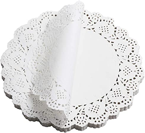 Paper Doilies 5 Colors Jagrove 100 Pieces 3.5 Inches Lace Doilies Paper Colorful Decorative Round Paper Placemats Bulk for Cakes Desserts Wedding Party Tableware Decoration