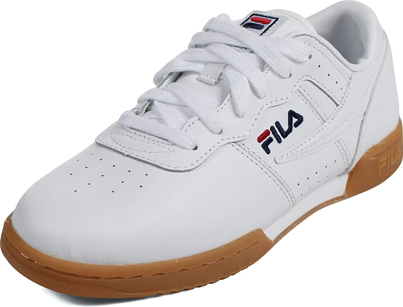 fila white gym shoes