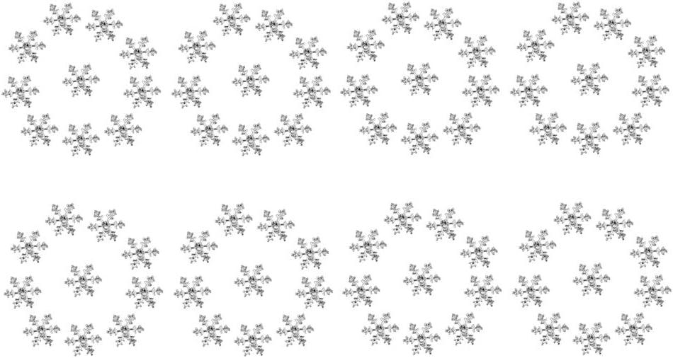 Bonarty 80 Snowflake Flatback Diamante Embellishments Rhinestone Card Making Crystal