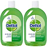 Dettol Disinfectant Multi-Purpose Liquid Lime Fresh- 500 ml(Pack of 2)