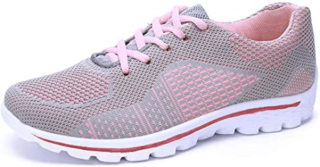 Miss & YG - Zapatillas de Running para Mujer, Informales, Ligeras, con Cordones: Amazon.es: Deportes y aire libre