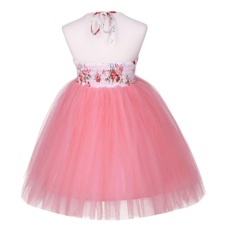 BABYPREG Niña Niña Floral Vestido Vestido de Tul Linda Princesa ...