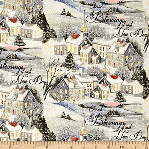 Susan Winget Old World Christmas Wintervale Multi Fabric By The Yard