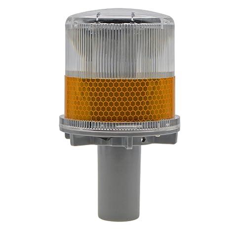 Traffic Light New Solar Powered Led Traffic Strobe Warning Lights Flicker Beacon Road Sign Lamp Roadway Safety
