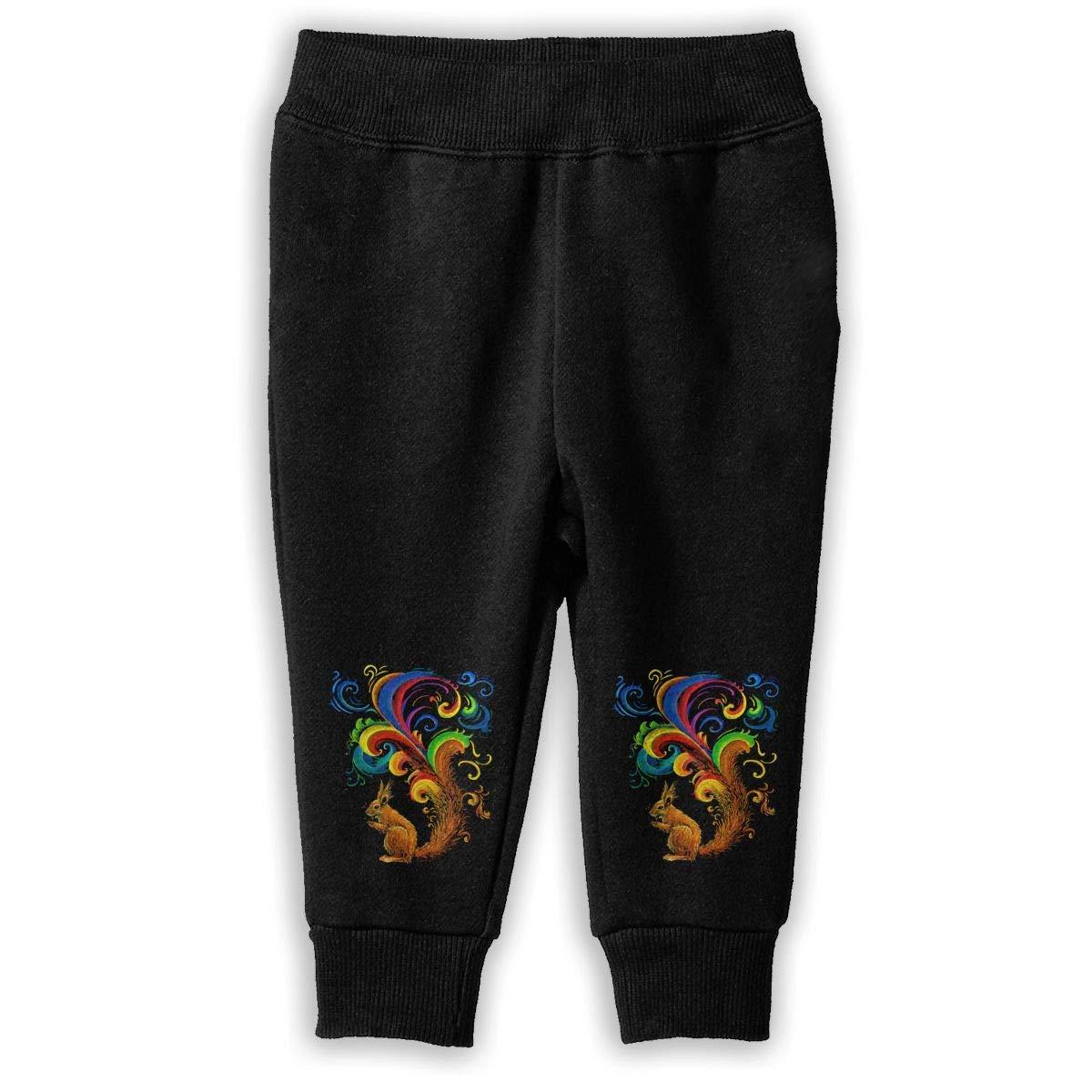 ShineFun Printed Psychedelic Squirrel Child Boys Girls Unisex Fashion Sweatpants