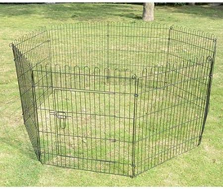 PawHut Parque Perros Jaula Plegable Mascotas Cerca Entrenamiento ...