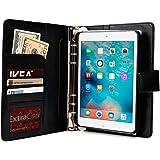 Cooper Cases (TM) FolderTab Apple iPad Mini 4メモ帳付エグゼクティブ ポートフォリオケース(上質な合成皮革、洗練されたビジネスデザイン、取り外し可能なプラスチック製タブレットホルスターシェル、ボタン・ポート・リアカメラに簡単アクセス、複数のカード入れ&スリップポケット、9穴(3穴×3)バインダー、カレンダー&メモ帳付きの予定帳、マグネット式ストラップカバーロック)