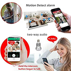 LEFTEK Panoramic Camera Fisheye Camera 360 Degree Intelligent Video WIFI Remote Control CCTV Network Security Camera With Lamp Connector