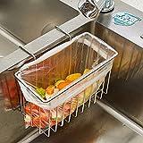 304 Stainless Steel Sink Storage Hanging Basket Faucet Shelf Sponge Drain Rack Water-Resisting Rack