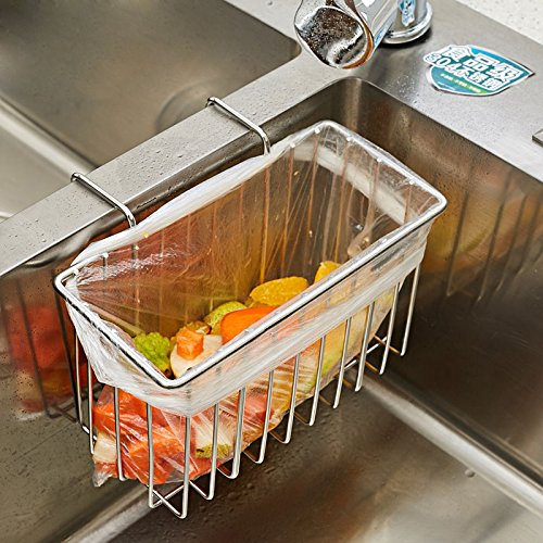 304 Stainless Steel Sink Storage Hanging Basket Faucet Shelf Sponge Drain Rack Water-Resisting Rack by Gods Kingdom