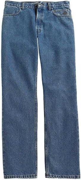 Harley-Davidson Mens Modern Straight Leg Denim Dark Wash Blue Jeans 99004-15VM
