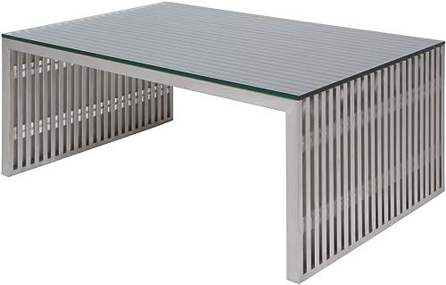 Nuevo Amici Metal Coffee Table in Silver