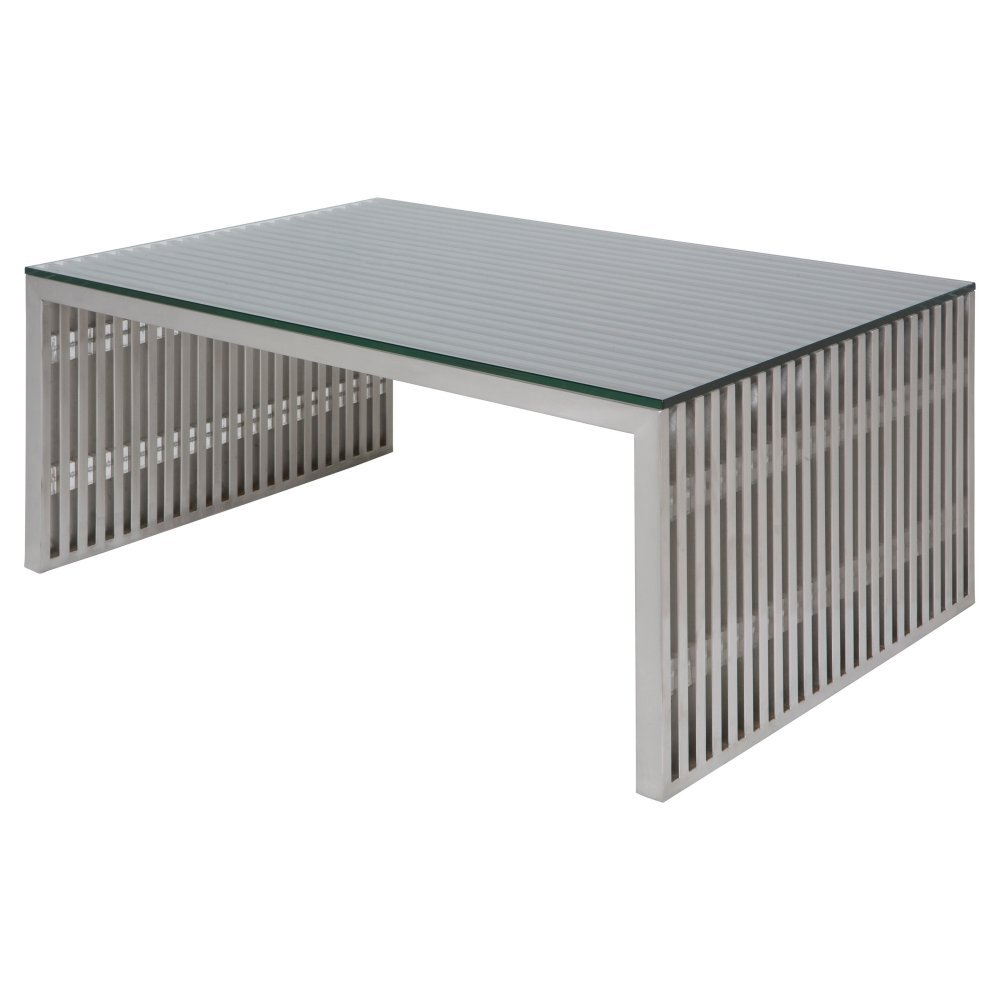 amazoncom amici large coffee table in silver kitchen  dining -