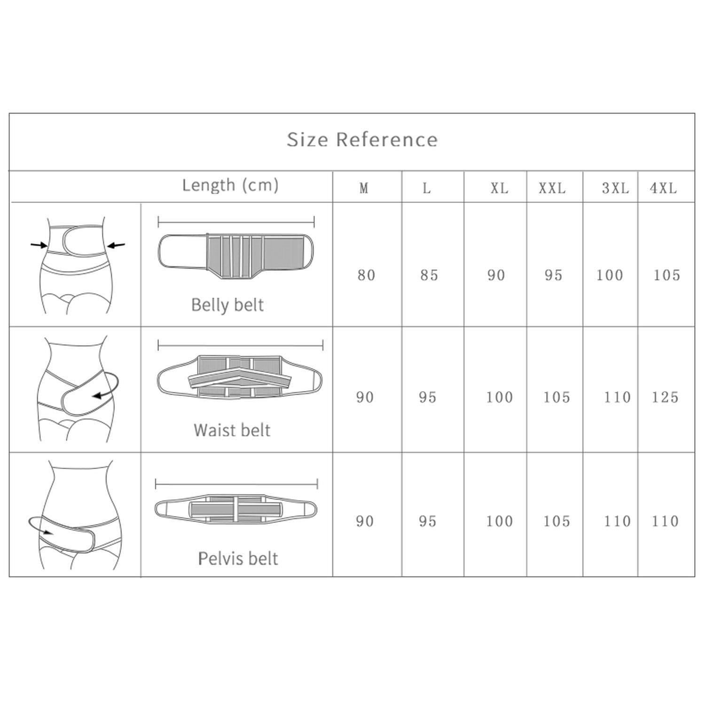 Belly Abdomen Pelvis Postpartum Belt Shapewear Waist Postpartum Girdle,3 XG,Espanha