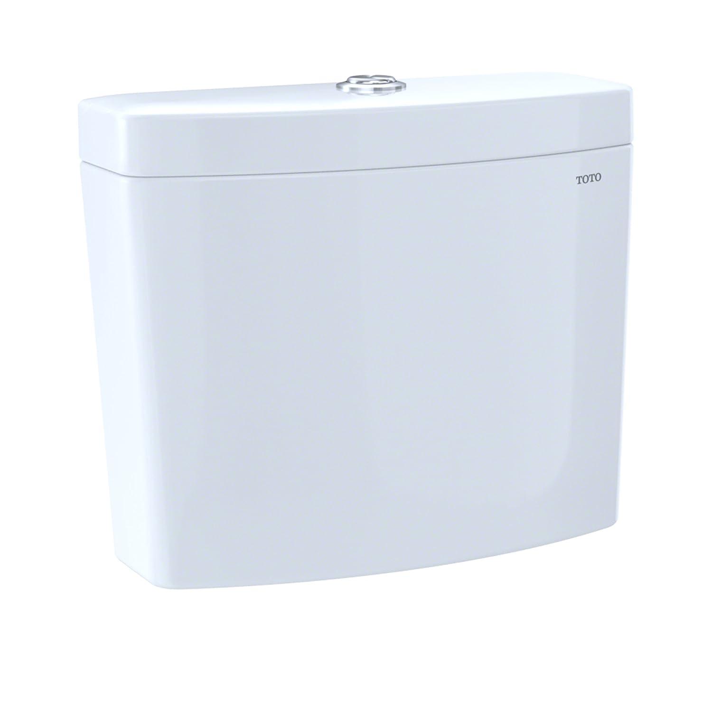 TOTO ST446UM#01 Aquia IV 1G Dual Flush 1.0 and 0.8 GPF White-ST446UM Toilet Tank Cotton White