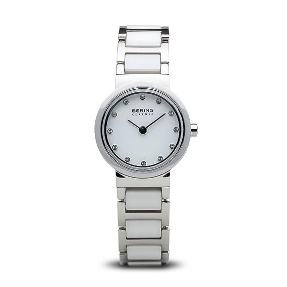 Bering 10725-754 - Reloj de Pulsera para Mujer (cerámica), Color Blanco: Amazon.es: Relojes