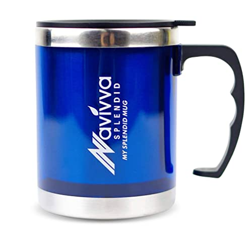 Delightful Travel Cup, Blue Mug, Insulated Travel Mug, Travel Cup With Handle, Travel.  NAVIVVA SPLENDID