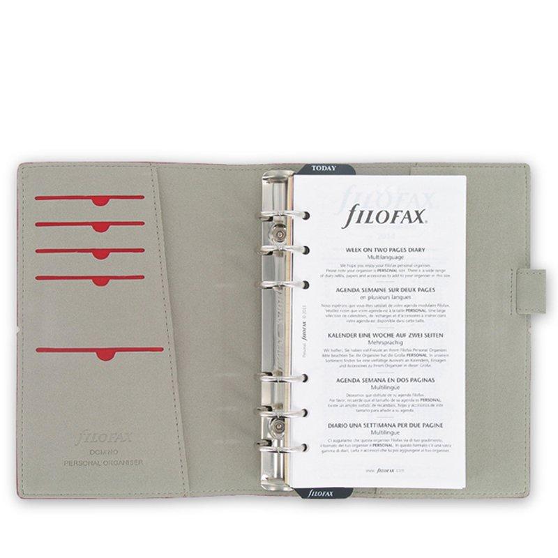 Filofax Domino 27802 - Agenda archivador (con elástico, 95 x 171 mm, piel)