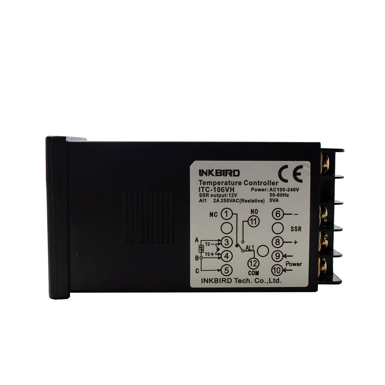 Inkbird ITC-106VH PID Termostato Digital , Rele 220 V Controlador Temperatura Enfriamiento&Calefaccion,Termometro Compresor Coche Calentador de Agua/Acuario ...