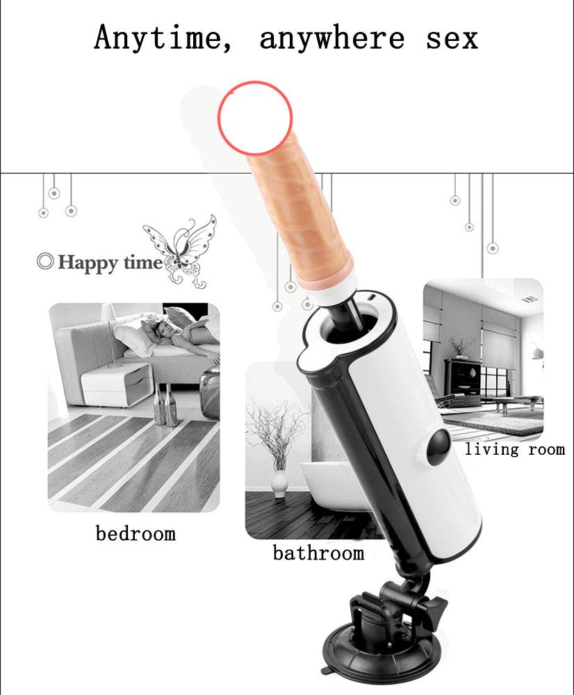 Sex Machine for Men and Women, Sexy Toy Sex Machine, Adjustable Angle Automatic Telescopic Dildo Masturbation, Remote Manipulating, Easy to Use by JSHSDREN