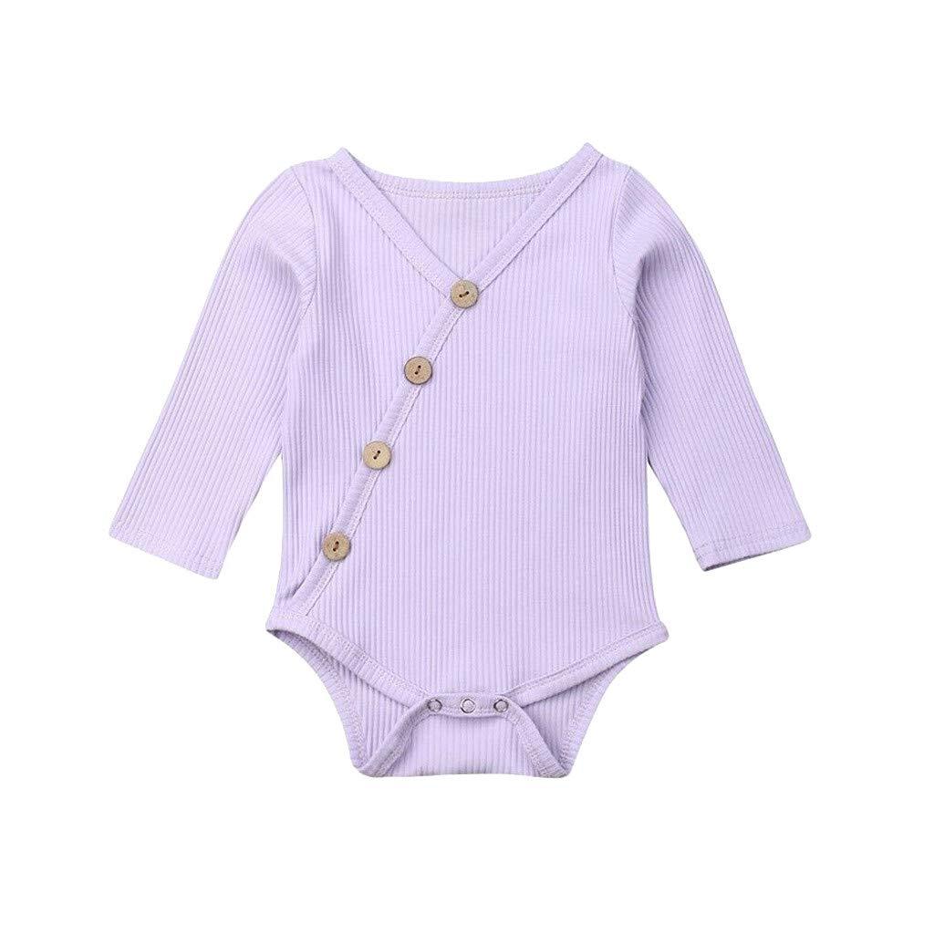 TWIFER Ropa Bebé Niñas Niños Manga Larga Mezcla de algodón Bebé ...