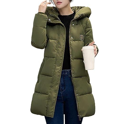 056436059 Jushye Women's Down Jacket Coat, Ladies Solid Casual Thicker Winter Outwear  Slim Down Lammy Long Overcoat