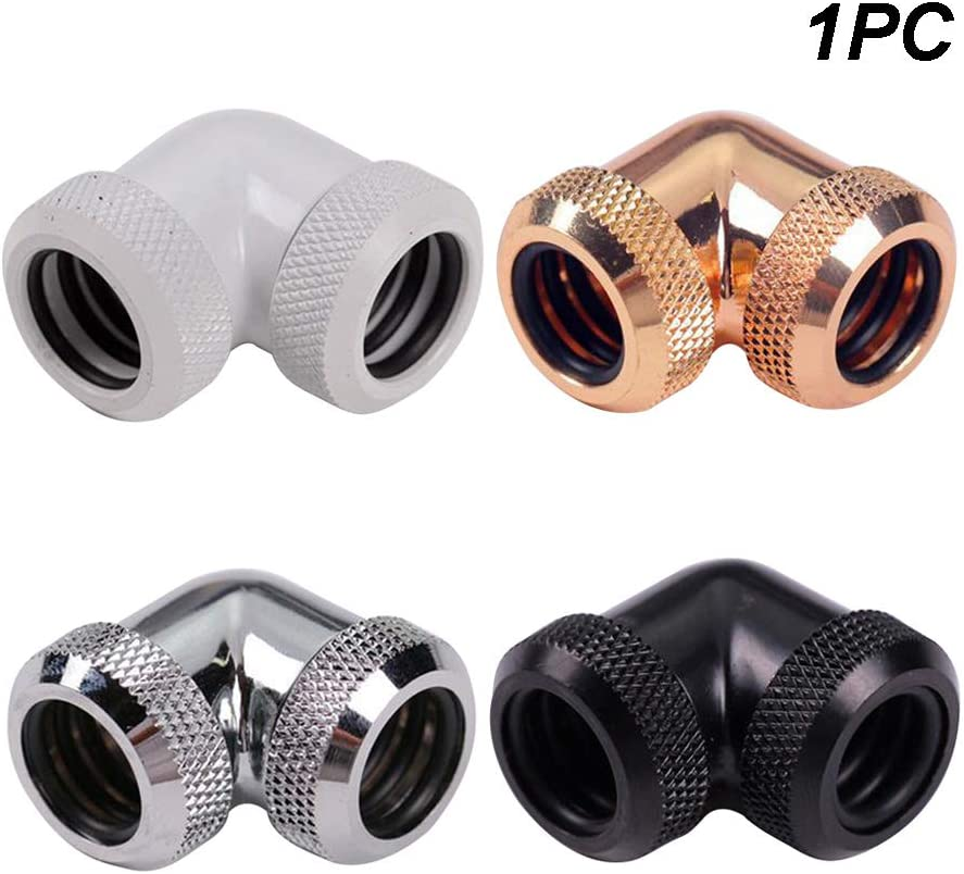 14mm 90 Degree Twist Adaptor Hard Tube Water Cooling Pipe Connector G1//4 Inner Thread Elbow Fittings OD #1121 PrinceShop