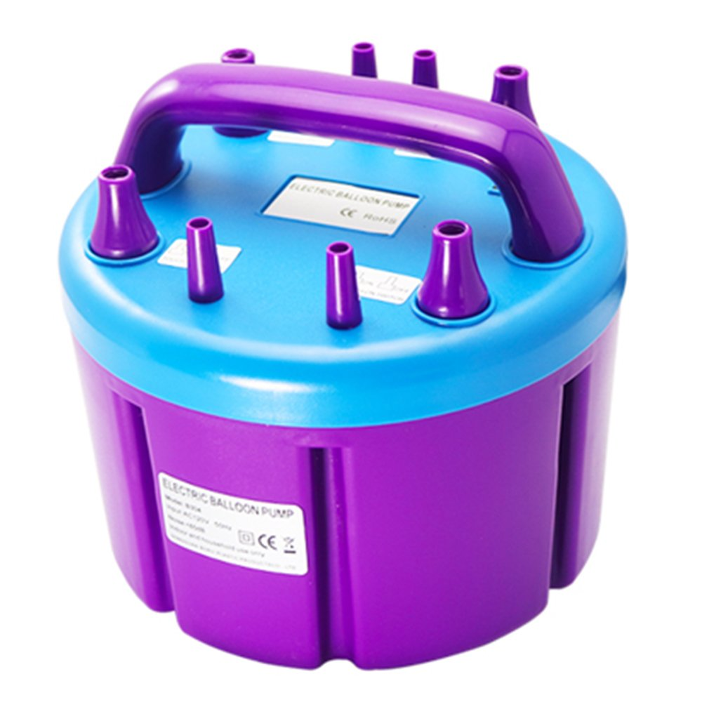 HUKOER Four Nozzles Electric Balloon Inflator Pump 110v