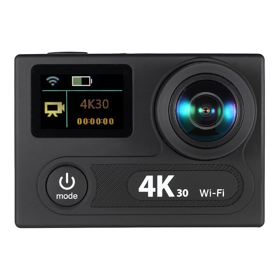 SODIAL(R) 2inch Dual Screen LCD Sports Action Camera Ultra HD 360 VR Play Wifi 4K 30fps 1080P 60fps 12MP 170 Wide-angle for Multimedia Interface Output Waterproof 30M with Remote Control