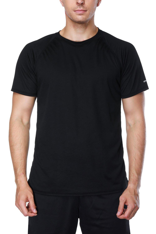 V FOR CITY Swim Surf Shirt Short Sleeve Rash Guard Swimwear Loose Fit Swim Top Black XL by V FOR CITY