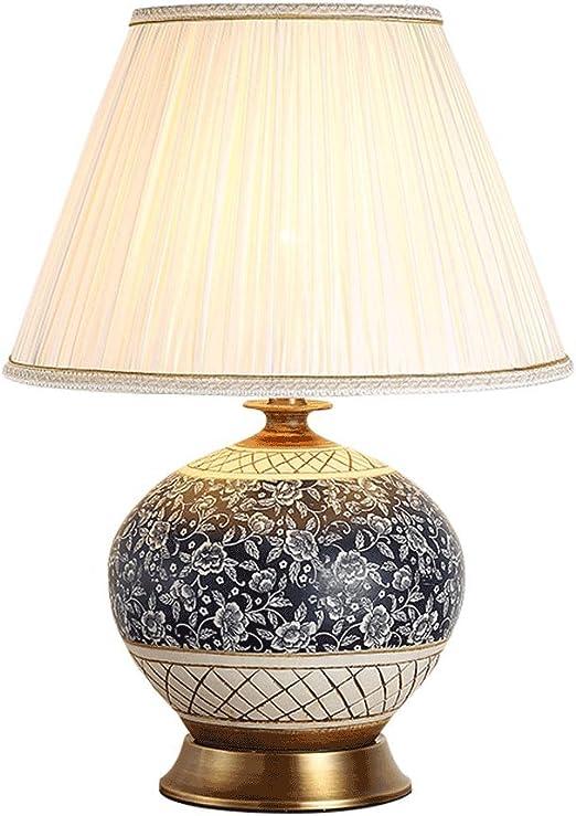 MinMin Lámpara de Mesa de cerámica Pintada a Mano Moderna ...