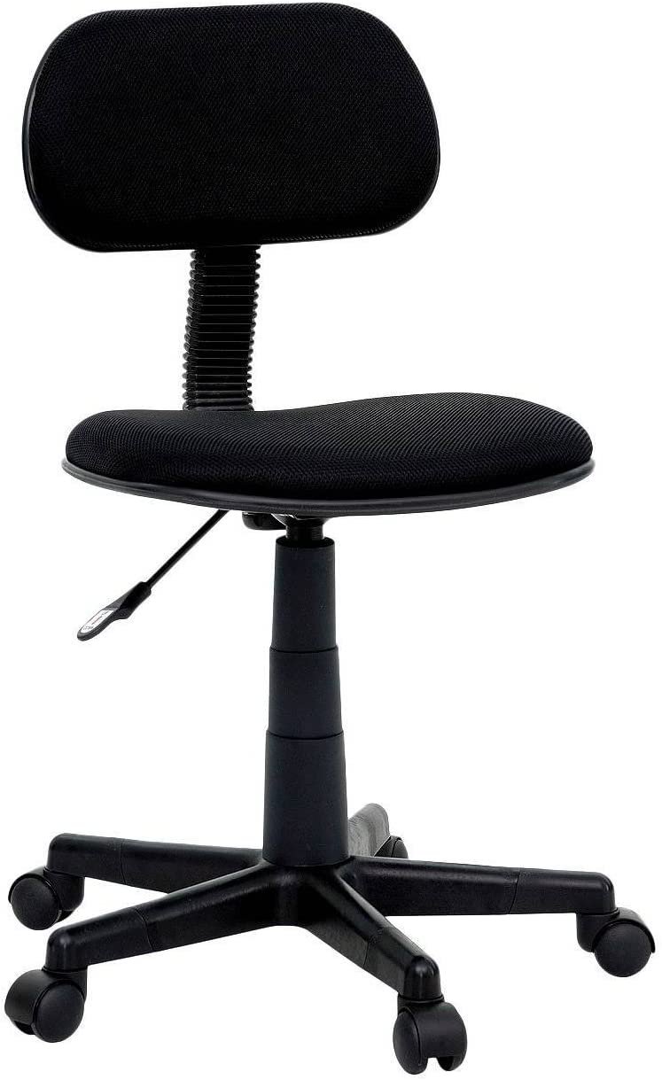 Amazon.com: Office/Desk/Task Rolling Chair - Black Fabric Seat